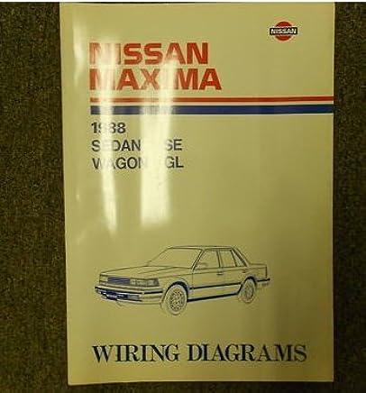1988 Nissan Maxima Sedan SE Wagon GL Wiring Diagram Service ... on 4th gen maxima, crimson black maxima, 1996 nissan maxima, 2 door maxima, vip maxima, 2015nissan maxima,