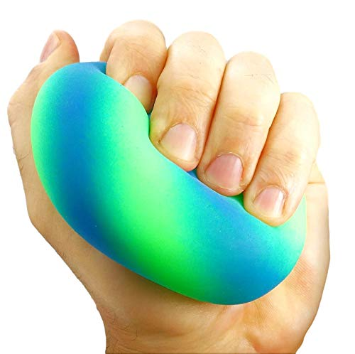 JA-RU Stretchy Balls Stress Relief Sand Filled Ball for Kids and Adults (1 Unit Assorted) Hand Therapy Stress Ball Tough Squeeze and Stretch. Sensory Fidget Relaxing Toy. | 5558-1A