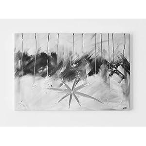"""Acrylbilder Modern, Wandbild Grau:""""Modern Dreams"""" Original Gemälde mit Silber Schwarz Handgemalt – Abstrakte Wohnzimmer Leinwandbilder Direkt vom Künstler"""