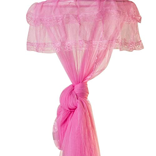 GYBest Bed Canopy Netting Princess Mosquito Net,Round Lace Dome Curtain Drapes Bed Canopy Netting Princess Anti Mosquito Net Girls Bed Canopy,Tent Mesh Canopies (Pink)