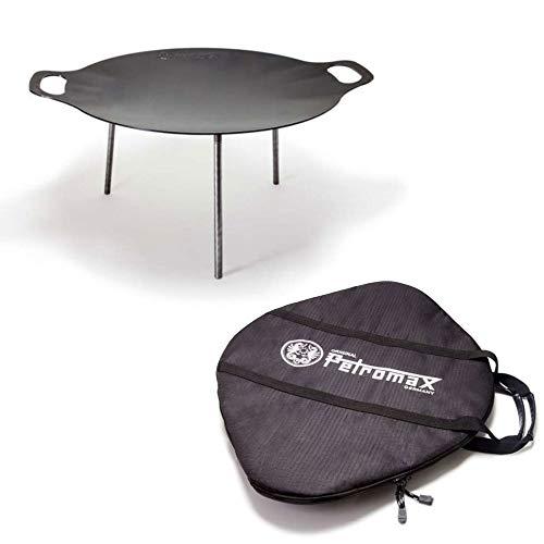 Petromax Grill- und Feuerschale fs48 Set mit Tasche für Outdoor-Cooking Lagerfeuer Camping