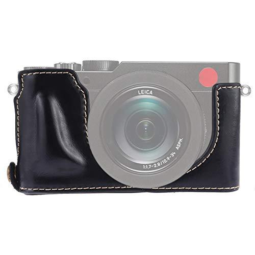 ZAORUN Camera Half Body Cover Base, 1/4 inch Thread PU Leather Camera Half Case Base Compatible for Leica DLUX TYP 109 (Color : Black)