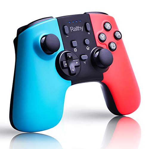 Ralthy Wireless Pro Controller for Switch/Switch Lite, Extra Controller Gamepad Joystick for Switch Controller, Supports Gyro Axis, Turbo and Dual Vibration