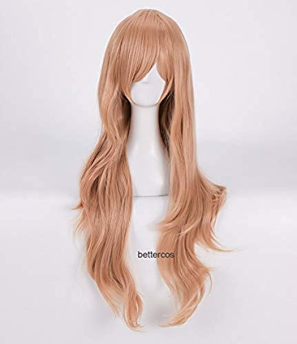 Sword Art Online Yuuki Asuna Cosplay peluca SAO Yuki Asuna peluca de pelo sinttico resistente al calor naranja larga + gorra de peluca