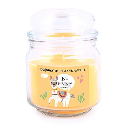 pajoma Duftkerze ''No probllama Lama'' (weiße Shokolade) New Edition im Bonbonglas, 248 g, Premium Kerze zum verschließen, für Circa 55 Stunden