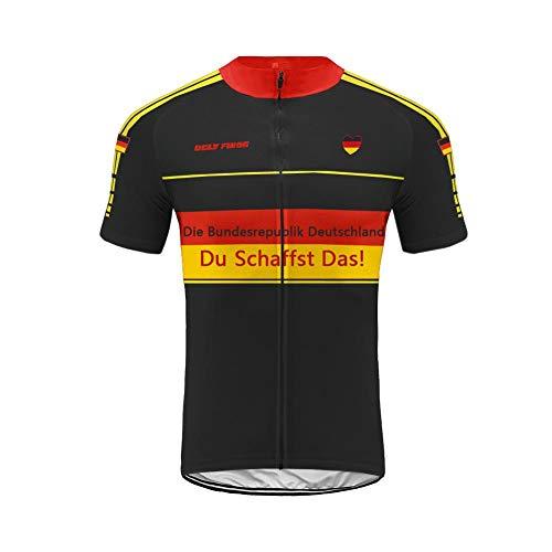 Uglyfrog Sport & Freizeit New Sommer Herren Männer Kurze Hülse Zyklus Jersey Kurzarm Fahrradtrikot Fahrrad Hemd Fahrrad Radfahren Trikot Cycling Jersey Bike Shirt Spain Designs Streifen