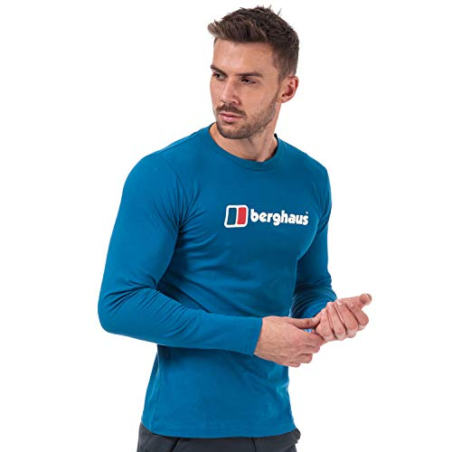 Berghaus Big Corp Logo Longsleeve T-Shirt snorkel blue L