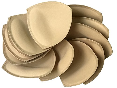 Fypxd 6 Pairs Removeable Bra pad Insert (Beige) for Sport Bra and Bikini Tops