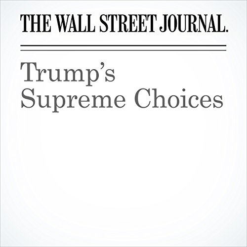 Trump's Supreme Choices copertina