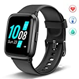 Lintelek Smart Watch, Full Touch Fitness Watches with Blood Oxygen, Blood Pressure, Heart