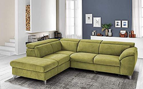 Canapé d'angle 3 places Tissu Luxe Design Vert