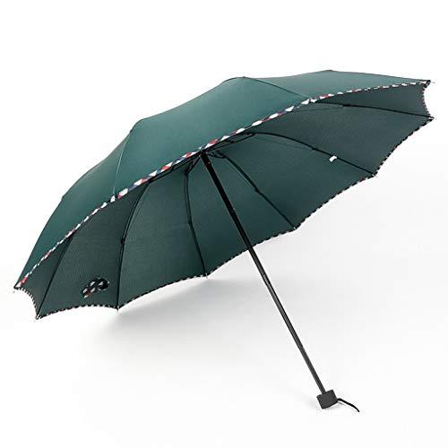 Paraguas Mini De Viaje,Sombrilla Plegable Compacta,Doble,De Gran TamañO,Sombrilla Impermeable Ligera,Paraguas Y Sombrilla,ProteccióN contra Los Rayos Ultravioleta Y Fuertes Vientos - Hombres Y Mujer