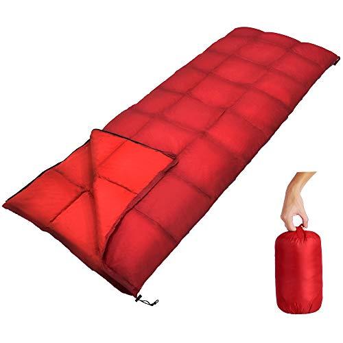 GEERTOP Sacco a Pelo Sleeping confortevole portatile e impermeabile in piuma d\'oca con sacca oggetti portatile per isolamento all\'interno ed iscursioni ,gite zaino in spalla e campeggio all\'esterno