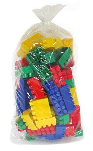 Polesie 0293 Baustein Set gross im Beutel, bestehend aus 96 Teilen, farblich sortiert
