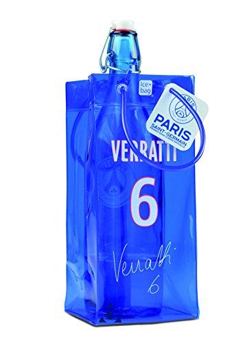 ice bag 17311 Rafraîchisseur à Bouteilles, PVC, Bleu/Blanc/Rouge, 11 x 11 x 25,5 cm