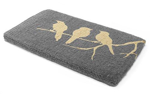 Handwoven, Extra Thick Doormat   Durable Coir, Easy Clean, Stylish   Entryway Door mat for Patio, Front Door   Decorative All-Season   Birds on Branch   24' x 36' x 1.60'