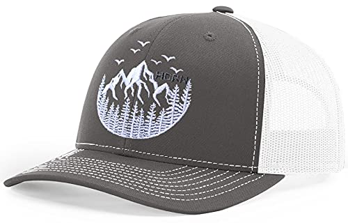 HORN GEAR Trucker Hat - Mountain Hat Edition (Charcoal/White)