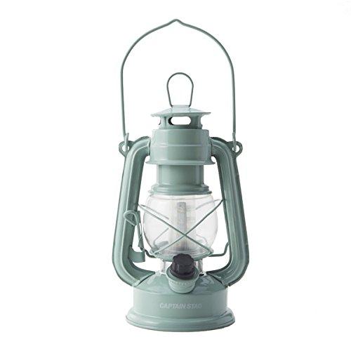 キャプテンスタッグ(CAPTAIN STAG) グランピング LEDキャンプライト ランタン ランプ アンティーク 暖色 アップルグリーン M-1327