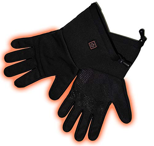 Verseo Electric Heated Winter Work Warmer Gloves for Men & Women (Gloves, Small/Medium)