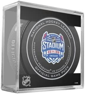 2014 NHL Stadium Series Chicago Official Game Puck - Pittsburgh Penguins vs. Chicago Blackhawks