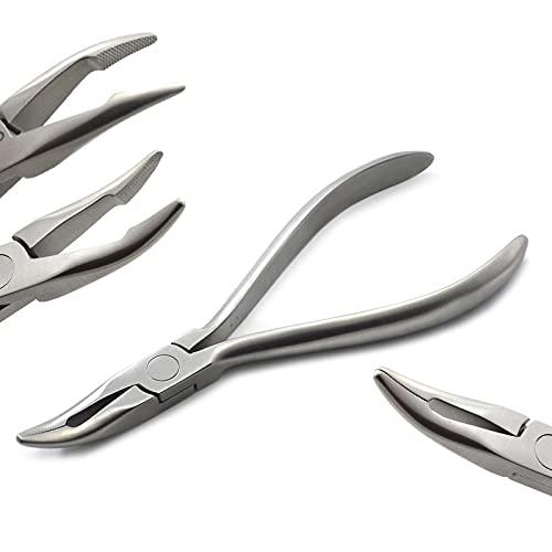 MEDENTRA Alicates de ortodoncia Weingart estándar con serraciones y cables de hasta...
