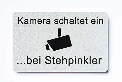 KaiserstuhlCard WC Schild Kamera schaltet ein bei Stehpinkler Toilette selbstklebend Aufkleber Türschild Tür Haus Büro Praxis Geschäft Sitz Toilettensitz WC-Sitz Zubehör
