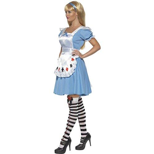 NET TOYS Déguisement Alice au Pays des Merveilles déguisement de Contes de fées L 44/46 déguisement féminin Dirndl Contes de fées