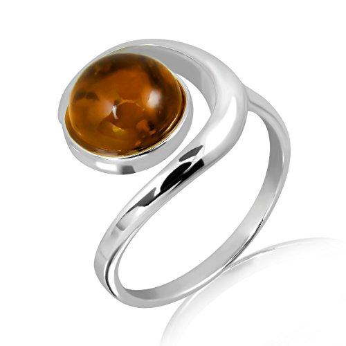 WithLoveSilver de plata de ley 925espiral diseño Natural redondo anillo de...