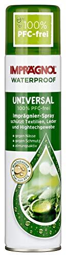 Imprägnol Waterproof Universal 100{a9775f97f939985f34f74f2020371fd7298297c1d8f648bb4d463dac3a9a1d5e} PFC-frei: Imprägnier-Spray geeignet für Textilien, Leder und Hightechgewebe, 400 ml, 1er Pack