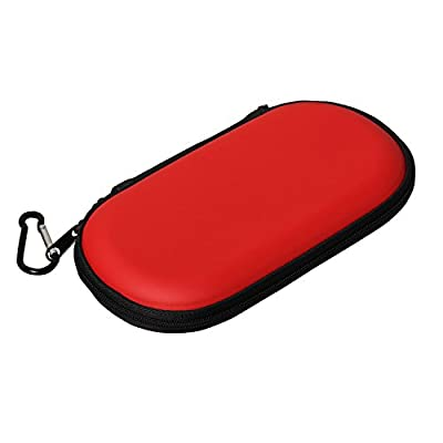 Timorn EVA Protective Case Cover Hard Storage Bag Carry Shell Pouch with Strap for Playstation PS Vita PSV (Red)