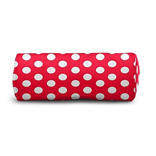 COSNUG Moderno rojo blanco lunares lápiz caso para niñas bolsa escuela papelería oficina titulares lápiz cosméticos maquillaje bolsa
