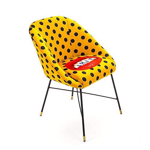 Seletti Toiletpaper Padded Chair Shit Chaise rembourrée avec décor Dents