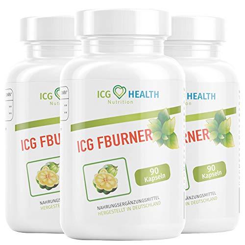ICG Health Nutrition FBURNER – F burner Women and Men (3 Dosen á 90 Kapseln)