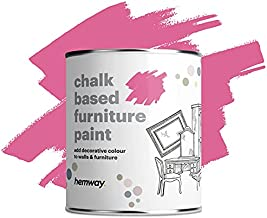 Hemway Duck Egg Blue Chalk Based Furniture Paint Matt Finish Wall and Upcycle DIY Home Improvement 1L / 35oz Shabby Chic Vintage Chalky (50+ Colours Available)