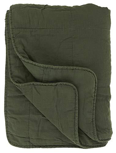 IB Laursen - Quilt - Tagesdecke - Bettüberwurf - Grün, Dunkelgrün - Baumwolle - 130 x 180 cm