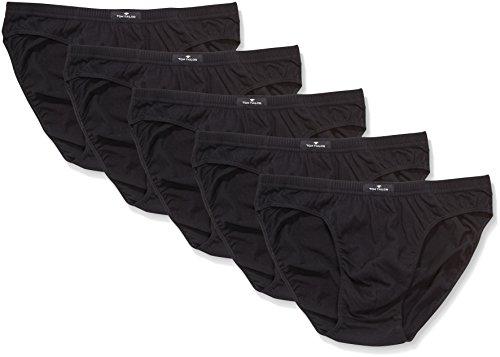 TOM TAILOR Underwear Herren Mini 5er Pack Slip, Schwarz (Black 9000), Large (Herstellergröße: L/6)