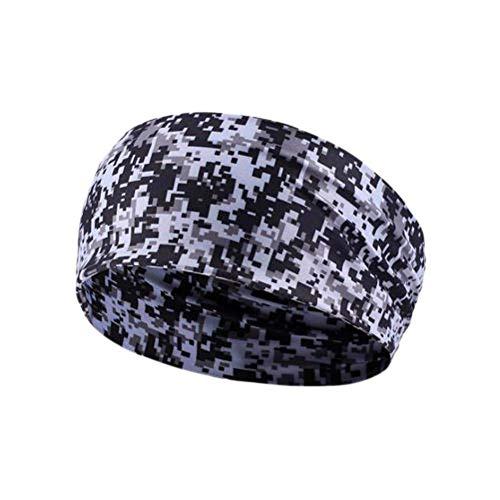Cintas para el Pelo Headband Sudor Bandas de Hombres Sudor Bandas elásticas para Las Mujeres Sweatband Negro Diadema Hombre Banda de Pelo