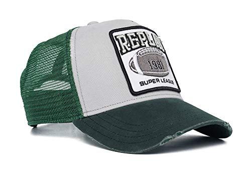 Replay Herren AM4234.000.A0387 Baseballkappe, 388 Green, UNIC