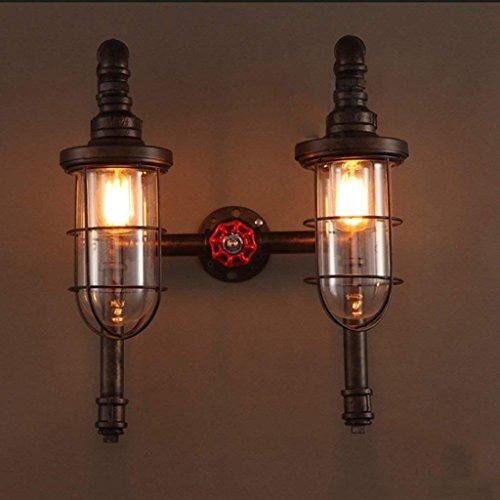 DSJ wandlamp American Nostalgie gangers balkon decoratieve wandlamp waterpijp om de oude ijzeren dubbele wandlamp te tun
