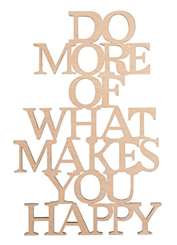 Rayher 46314000 Deko-Holzschrift Do more of what you love, 12,8 x 19,7 cm, FSC 100 Prozent