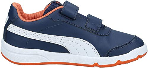 PUMA STEPFLEEX 2 SL VE V PS, Zapatillas Unisex niños, Azul (Peacoat/Firecracker White), 34 EU