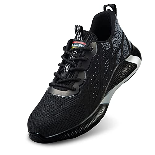 Zapatos de Seguridad Hombre Botas de Trabajo Mujer Botas de Seguridad Botas Puntera de Acero Botas de Seguridad Calzado de Seguridad Deportivo Verano Tenis de Seguridad para Hombre(Gris 41)