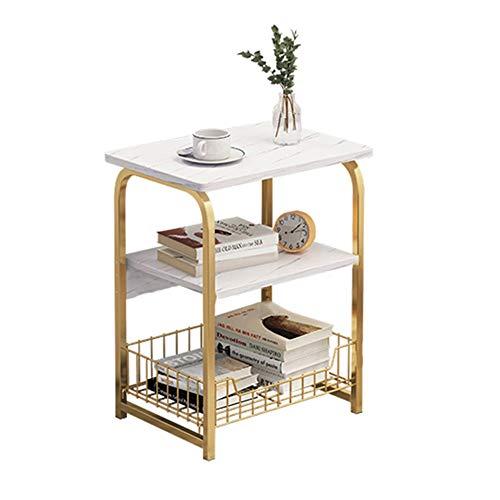 FUFU Beistelltische Trapezförmige Metall Beistelltisch, MDF Arbeitsplatte, Kaffeetisch, Nordic Style, Wohnzimmer und Schlafzimmer -40cm X 30cm X 62cm