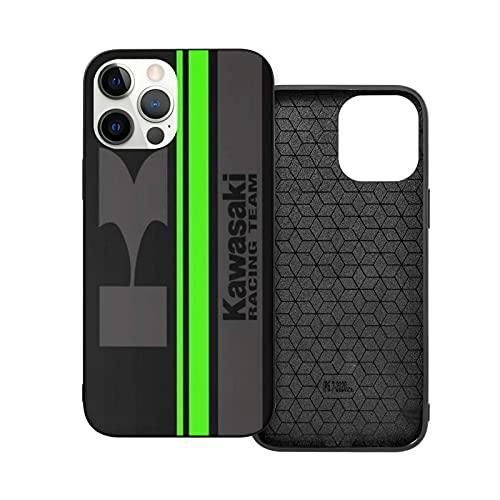 Compatibile con iPhone 12/11 PRO Max 12 Mini SE X/XS Max XR 8 7 6 6s Plus Custodie Kawasaki Team Nero Custodie per Telefoni Cover