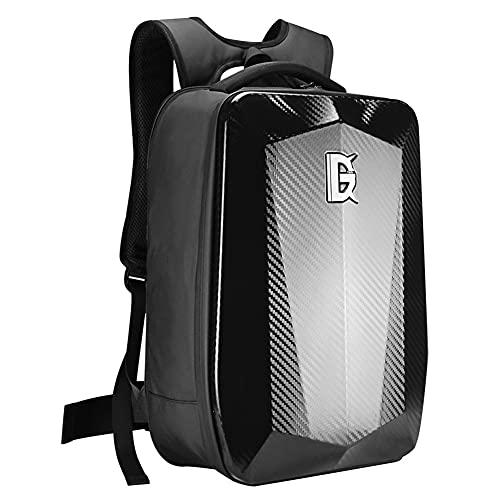 SANLAI Motorcycle Backpack Black Hard Shell Motorbike Helmet Bag Large Capacity USB charging anti theft Waterproof armour Daypack Best birthday gifts