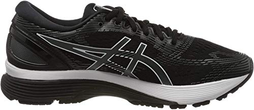 ASICS Men's Gel-Nimbus 21 (4E) Running Shoes, 10.5XW, Black/Dark Grey