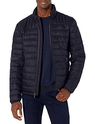 Tommy Hilfiger Men's Ultra Loft Lightweight Packable Puffer Jacket (Standard and Big & Tall), Midnight, Medium