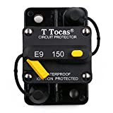 T Tocas 150 Amp Circuit Breaker with Manual Reset, 12V- 48VDC, Waterproof (150A)