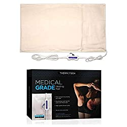 "Medical Grade Heating pad with Automatic Moist Heat by Thermotech - High Heat Heating Pad for Back Pain and Cramps - Versatile Medium Analogue - 14"" x 18"""