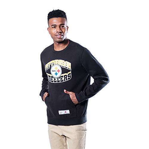 Ultra Game NFL Pittsburgh Steelers Mens Fleece Crew Sweatshirt, Team Color, Small